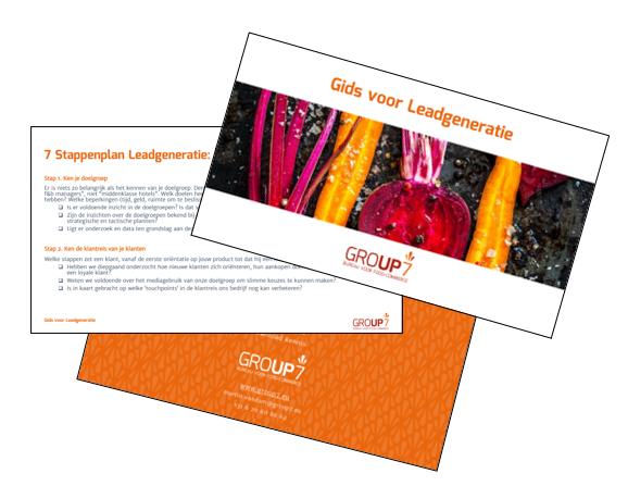 Gids voor Leadgeneratie 7 stappenplan | GROUP7