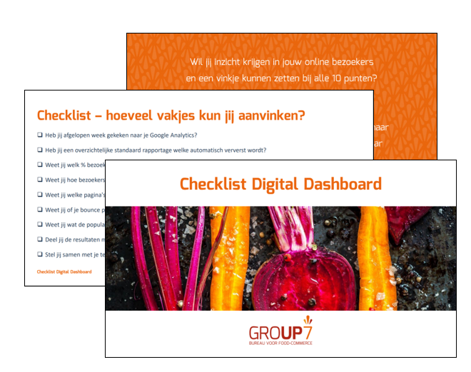 Digital dashboard checklist | GROUP7