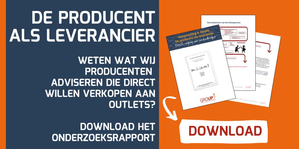 Download samenvatting de producent als leverancier | Onderzoek Hotelschool maastricht GROUP7