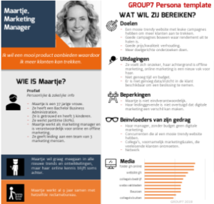 GROUP7 persona template voorbeeld