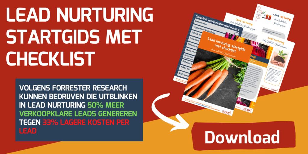 Lead nurturing startgids | GROUP7
